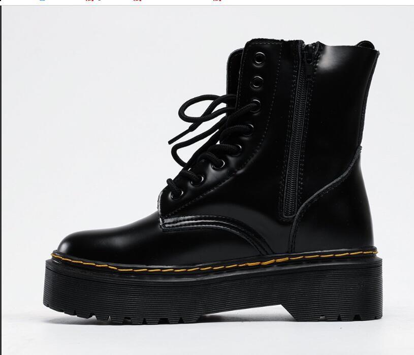Ботинки Dr.Marte** Classic (Черные)  Натуральная Кожа и Мех Женские