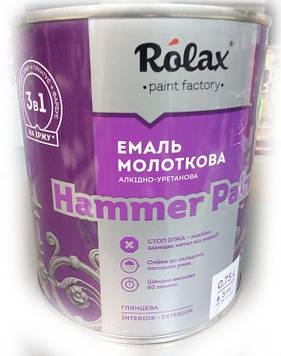 Эмаль молотковая текстурная Hammer 328 рубин 0,75л Ролакс