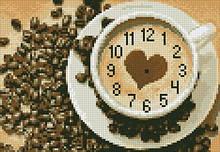 АГ-001. Годинник Кавовий. Алмазна мозаїка