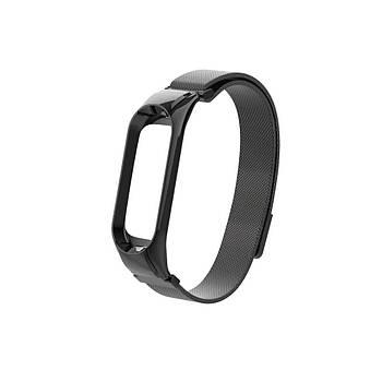 Ремешок для фитнес браслета Xiaomi Mi Band 5 и 6, Milanese design bracelet, Black