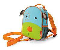 Детский мини-рюкзак с поводком Skip Hop Zoo let (mini backpack with rein) - Dog (Собачка), 1-4 г.