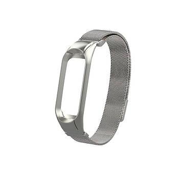 Ремешок для фитнес браслета Xiaomi Mi Band 5 и 6, Milanese design bracelet, Silver