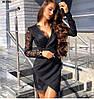 Элегантное женское платье с кружевом 90 ОНБ, фото 2