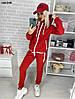Теплый женский спортивный костюм на флисе 144 ОНБ, фото 2