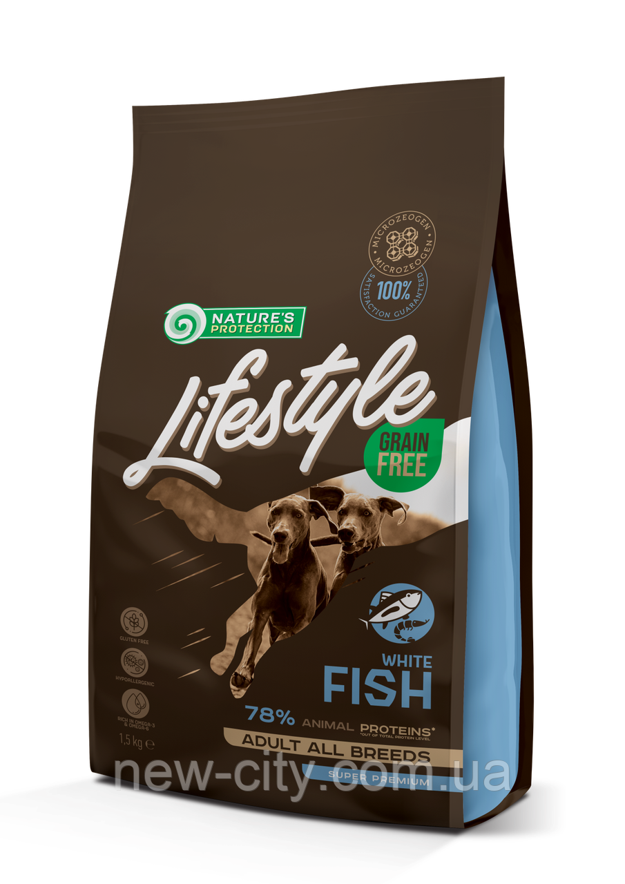 NP Lifestyle Grain Free White Fish Adult All Breeds 17кг
