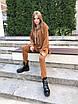 Женский спортивный костюм из двухнитки : свободное худи и штаны (р.42 - 50) 73rt1165, фото 3