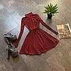 Расклешенное базовое платье - гольф из трикотажа рубчик с юбкой солнце (р. 42-44) 66ty1693Е, фото 3