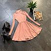 Расклешенное базовое платье - гольф из трикотажа рубчик с юбкой солнце (р. 42-44) 66ty1693Е, фото 8