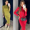 Вязаное длинное платье - резинка в расцветках (р. S - XL) 83ty1695, фото 4