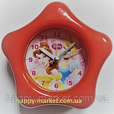 Часы-будильник №0729 звездочка Принцессы (10*10)