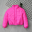 Женская яркая светоотражающая короткая куртка с переливом без капюшона (р. 42-46) 66ki503Q, фото 6