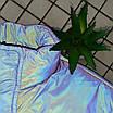 Женская яркая светоотражающая короткая куртка с переливом без капюшона (р. 42-46) 66ki503Q, фото 7