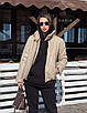 Зимняя короткая куртка из экокожи с воротником стойкой и без капюшона (р. 42-46) 55ki507, фото 5