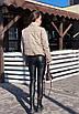 Зимняя короткая куртка из экокожи с воротником стойкой и без капюшона (р. 42-46) 55ki507, фото 7