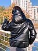Зимняя короткая куртка - баллон из экокожи с капюшоном в расцветках (р.р S - XXL) 5ki510, фото 5