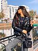 Зимняя короткая куртка - баллон из экокожи с капюшоном в расцветках (р.р S - XXL) 5ki510, фото 7