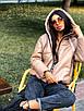 Зимняя короткая куртка - баллон из экокожи с капюшоном в расцветках (р.р S - XXL) 5ki510, фото 8