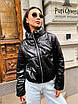 Короткая демисезонная куртка - баллон из экокожи с воротником стойкой (р.р S - L) 5ki511, фото 2