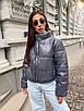 Короткая демисезонная куртка - баллон из экокожи с воротником стойкой (р.р S - L) 5ki511, фото 8