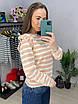 Женский полосатый свитер с рюшами на плечах (р. 42-46) 33dm986, фото 5