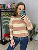 Вязаный двухцветный свитер в полоску (р. 42-46) 33dm988, фото 3