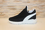 Кросівки зимові жіночі чорні дутики С833, фото 2