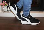 Кросівки зимові жіночі чорні дутики С833, фото 9