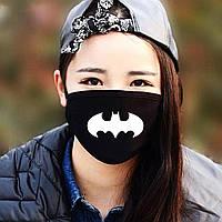 """Детская маска многоразовая (респиратор) защитная с принтом на лицо """"Batman"""""""
