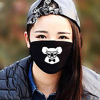 """Детская маска многоразовая (респиратор) защитная с принтом на лицо """"Коала в очках"""""""