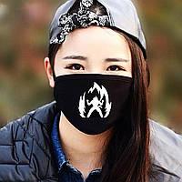 """Детская маска многоразовая (респиратор) защитная с принтом на лицо """"Человек в огне"""""""