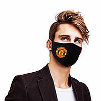 """Маска многоразовая (респиратор) защитная на лицо  с принтом футбольного клуба  """"Manchester United"""""""
