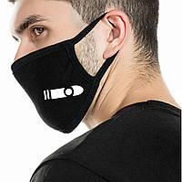 Детская многоразовая (респиратор) защитная маска на лицо с игровым принтом