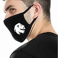 Дитяча багаторазова (респіратор) захисна маска на обличчя з принтом Лев