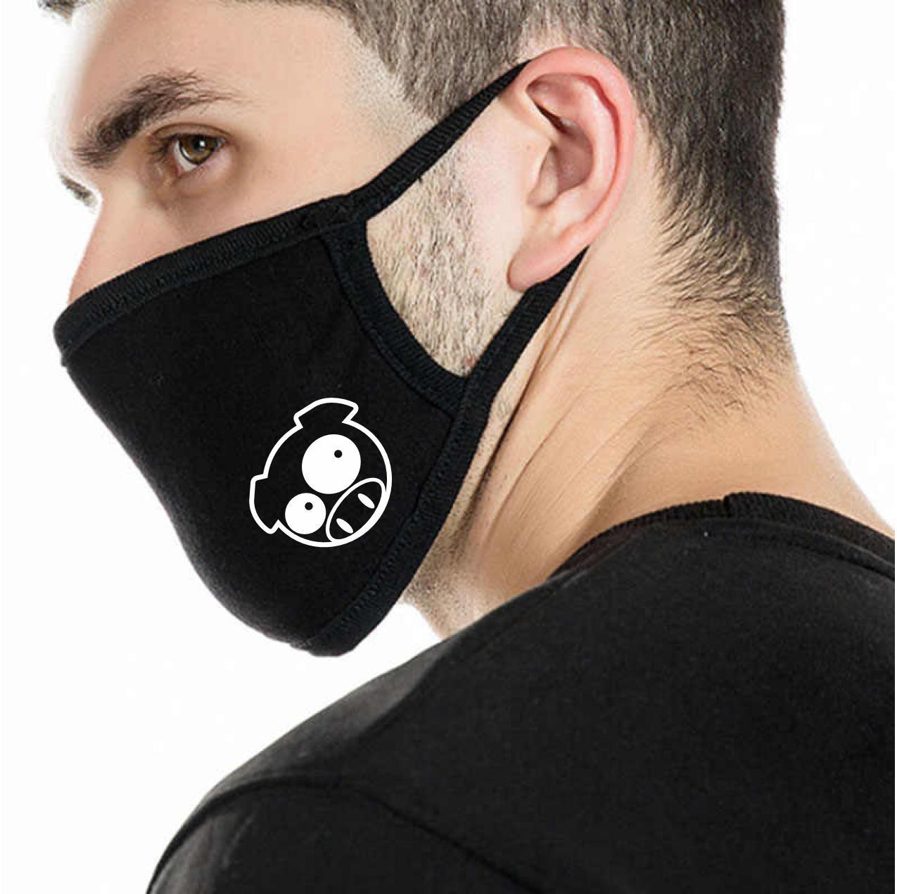 Детская многоразовая (респиратор) защитная маска на лицо с принтом Свинка