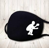 Детская многоразовая (респиратор) защитная маска на лицо с принтом Баскетбол