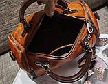 Женская черная сумка с брелком код 3-470, фото 2