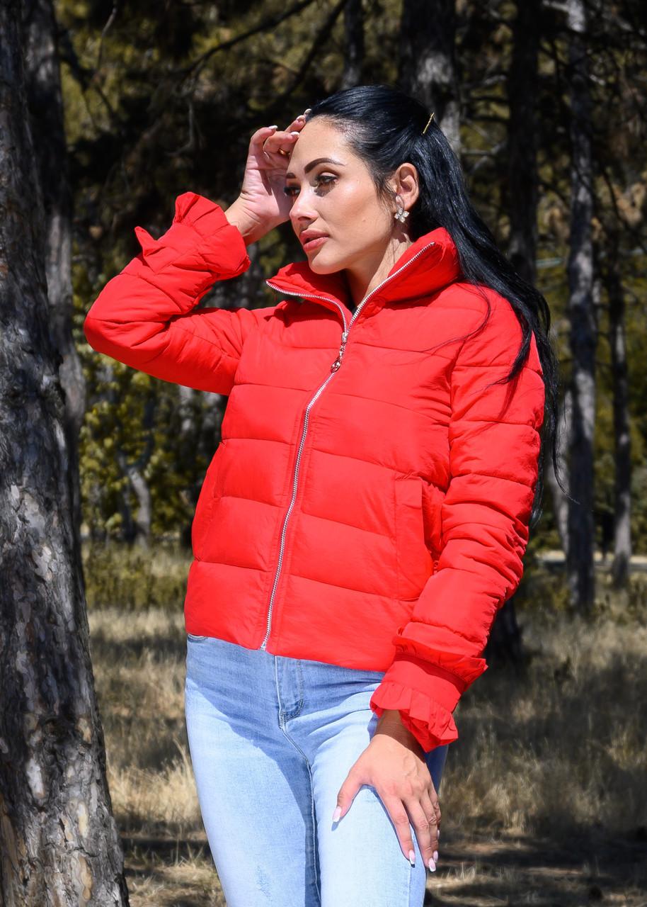 Куртка женская красная демисезонная код П200