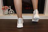 Кросівки жіночі білі з сірими вставками Т1178, фото 3