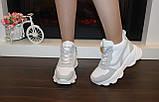 Кросівки жіночі білі з сірими вставками Т1178, фото 5