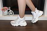Кросівки жіночі білі з сірими вставками Т1178, фото 6