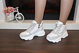 Кросівки жіночі білі з сірими вставками Т1178, фото 7