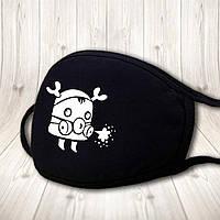 Детская многоразовая (респиратор) защитная маска на лицо с принтом животных из мультфильмов 4