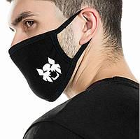 Детская многоразовая (респиратор) защитная маска на лицо с принтом Супергерои 7