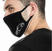 Детская многоразовая (респиратор) защитная маска на лицо с принтом Машина