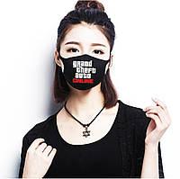 """Многоразовая (респиратор) защитная маска на лицо с принтом """"Grand theft auto online"""""""