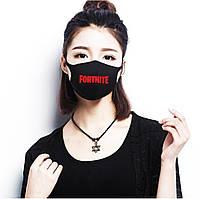 Многоразовая (респиратор) защитная маска на лицо с принтом Fortnite