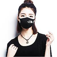 Многоразовая (респиратор) защитная маска на лицо с принтом The north face