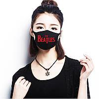 Многоразовая (респиратор) защитная маска на лицо с принтом The Beatles