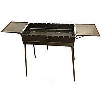 Мангал - чемодан 3 мм на 9 шампуров со столиками 570х300х150мм Раскладной Походный, фото 1