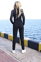 Теплые женские спортивные штаны 907 черные, фото 3